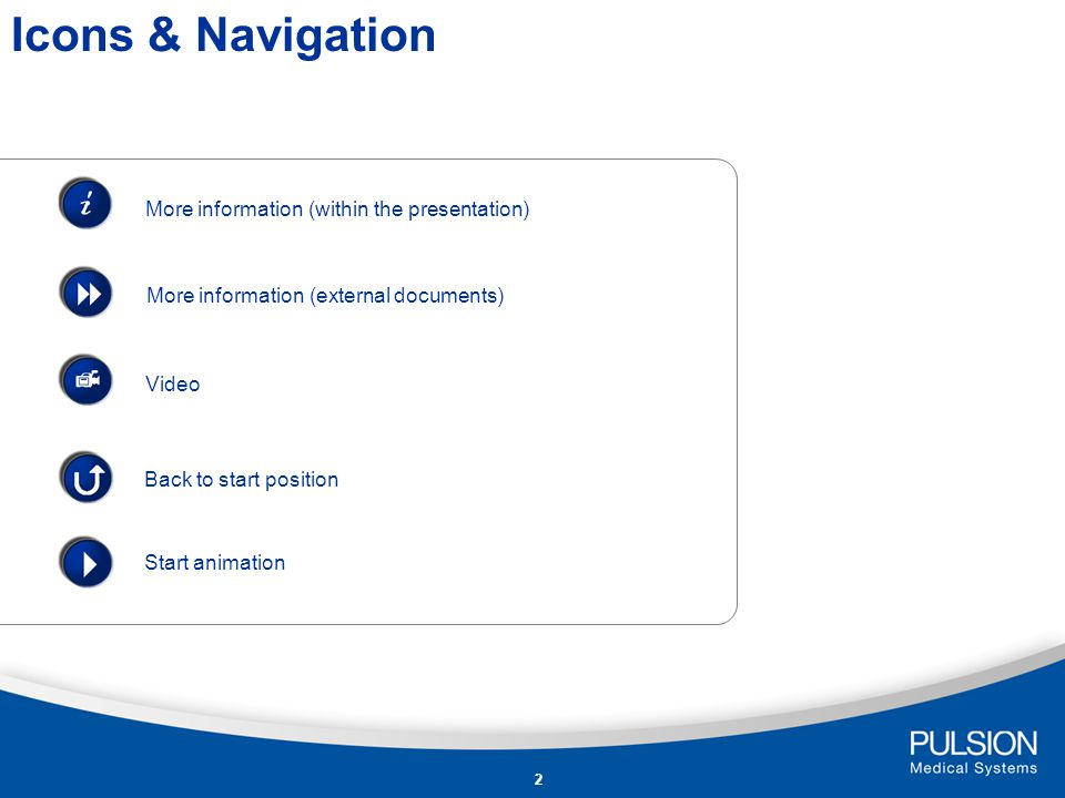 i Icons & Navigation More information (within the presentation)