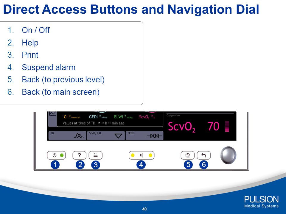 Direct Access Buttons and Navigation Dial