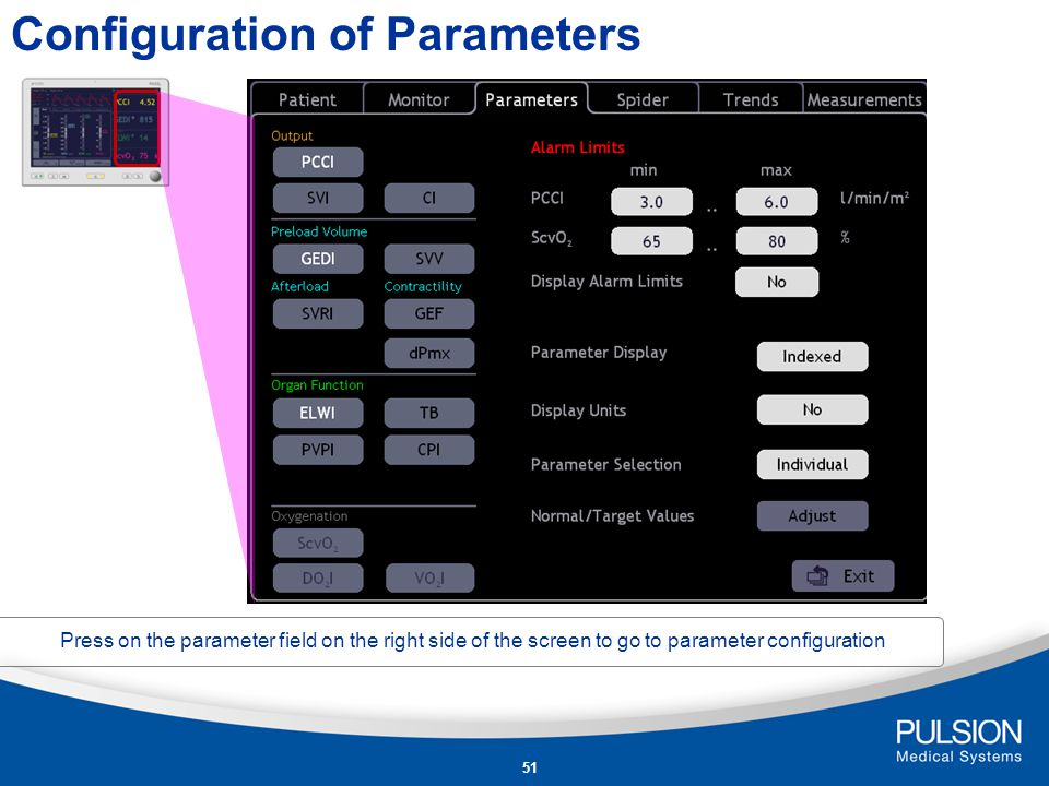 Configuration of Parameters
