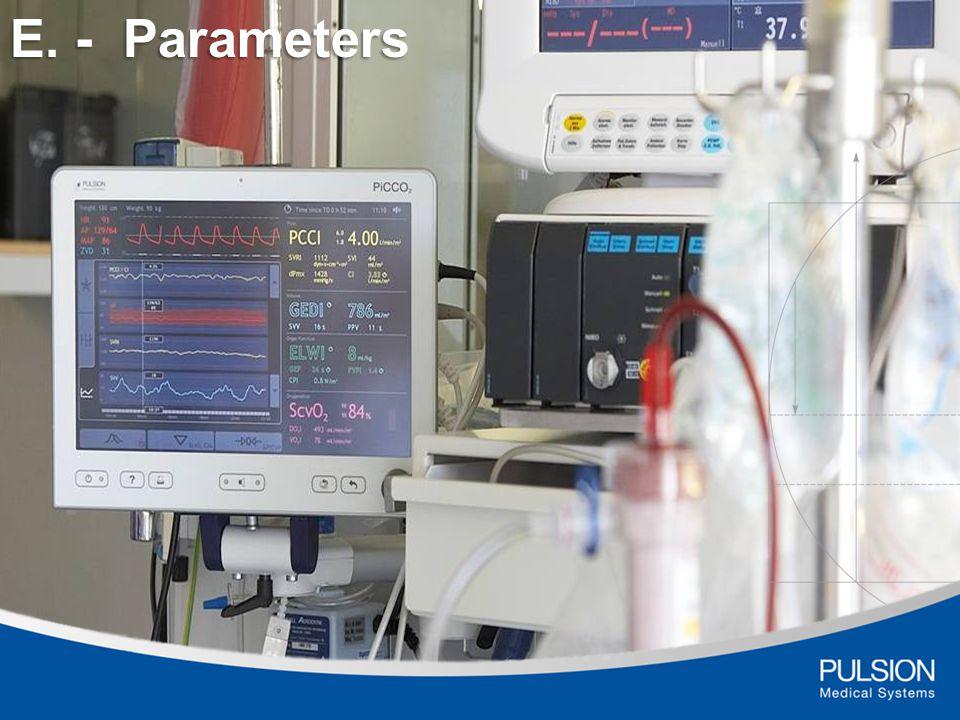 E. - Parameters
