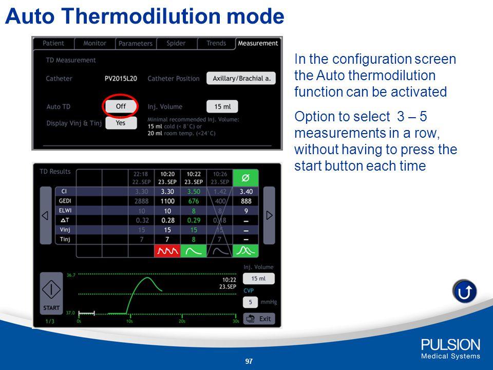 Auto Thermodilution mode