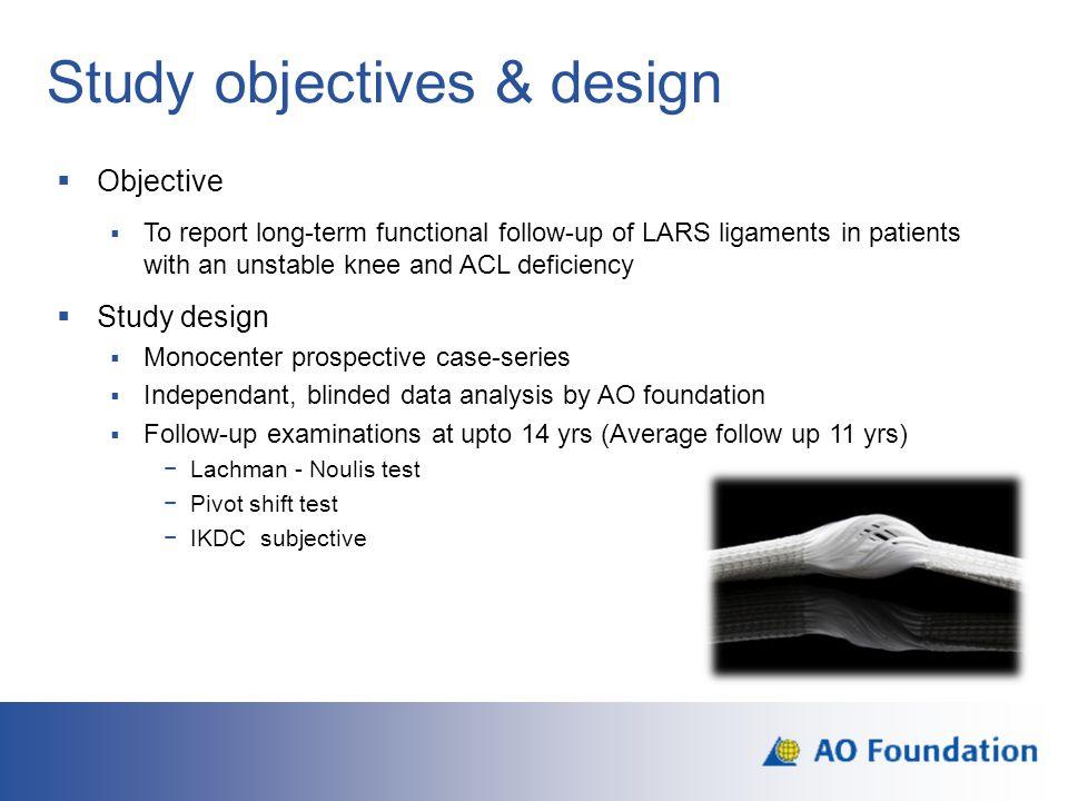Study objectives & design