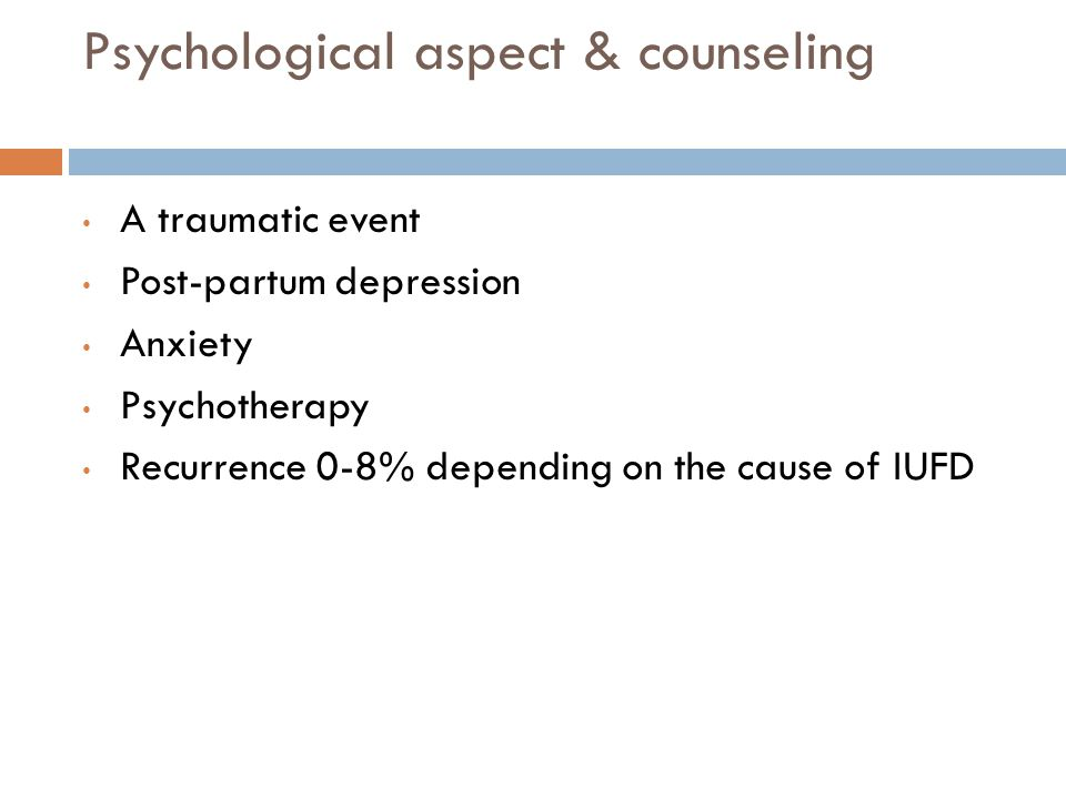 Psychological aspect & counseling