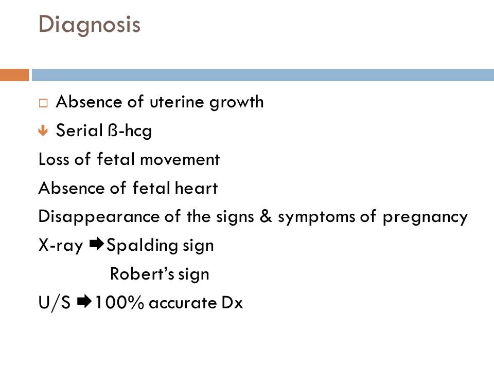 Diagnosis Absence of uterine growth Serial ß-hcg