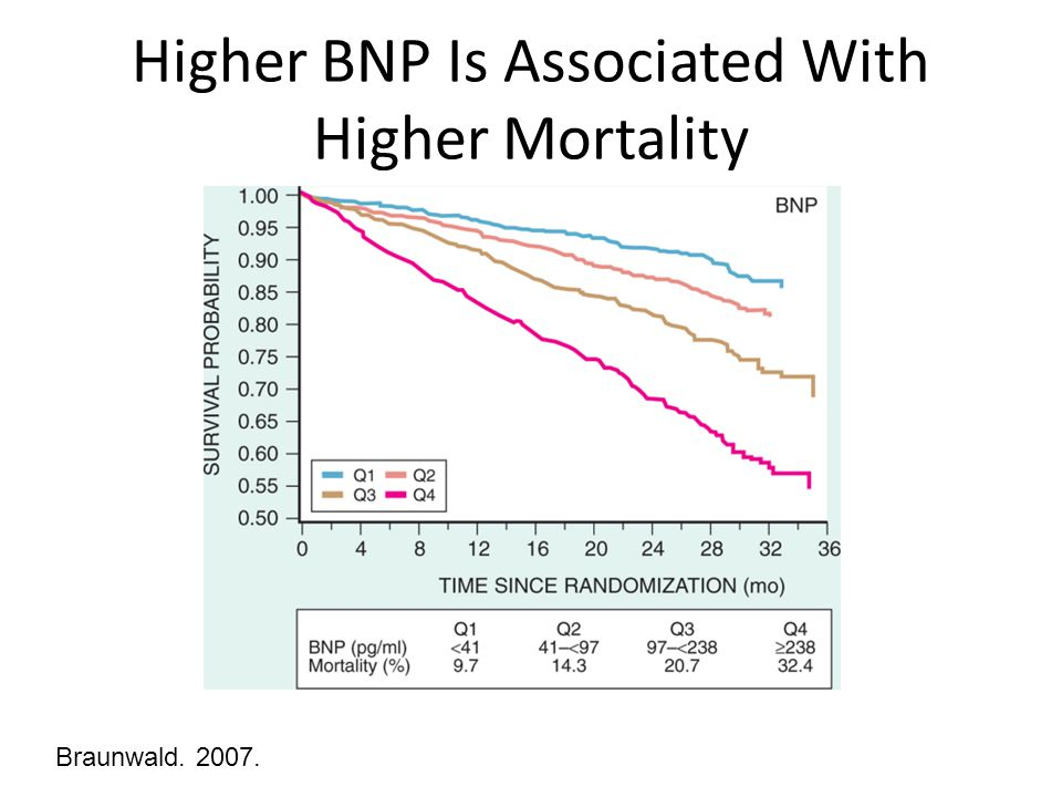Higher BNP Is Associated With Higher Mortality