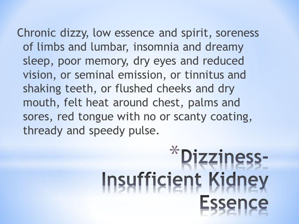 Dizziness- Insufficient Kidney Essence