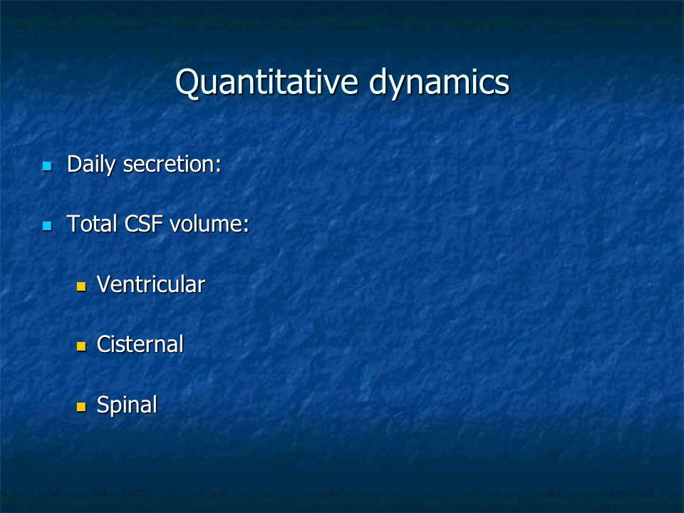 Quantitative dynamics