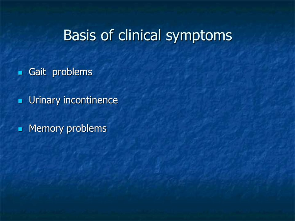 Basis of clinical symptoms