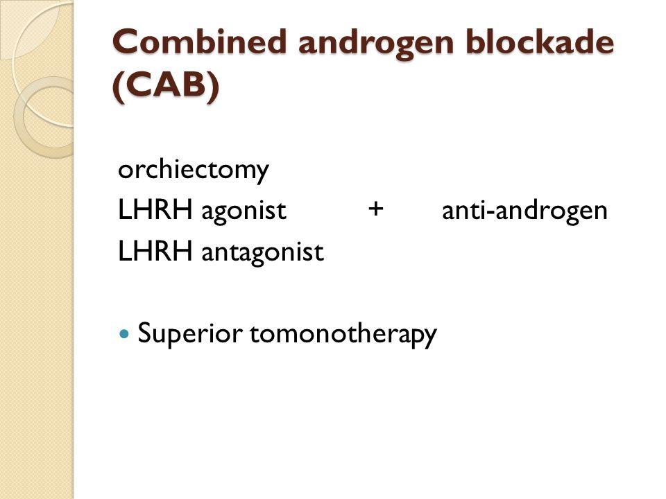 Combined androgen blockade (CAB)
