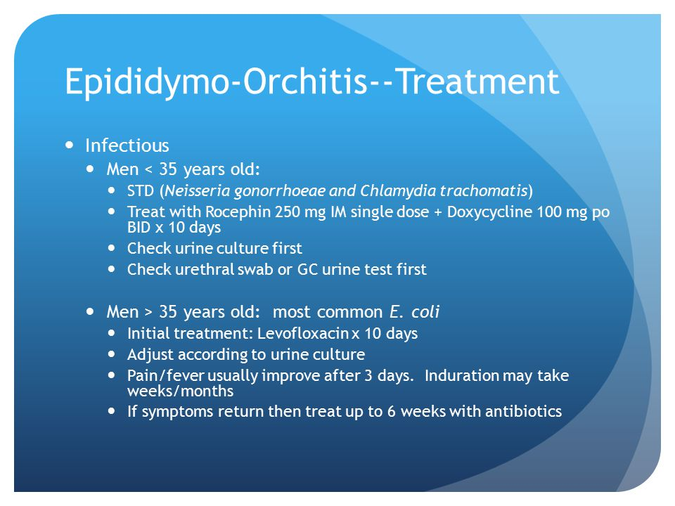 Epididymo-Orchitis--Treatment
