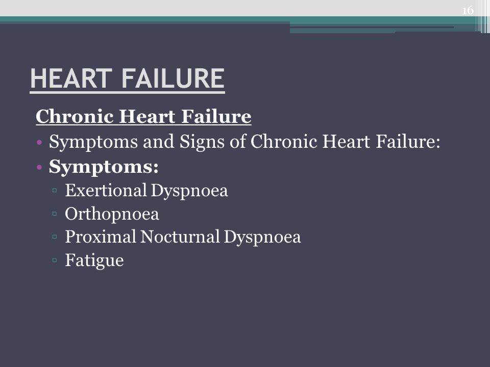 HEART FAILURE Chronic Heart Failure