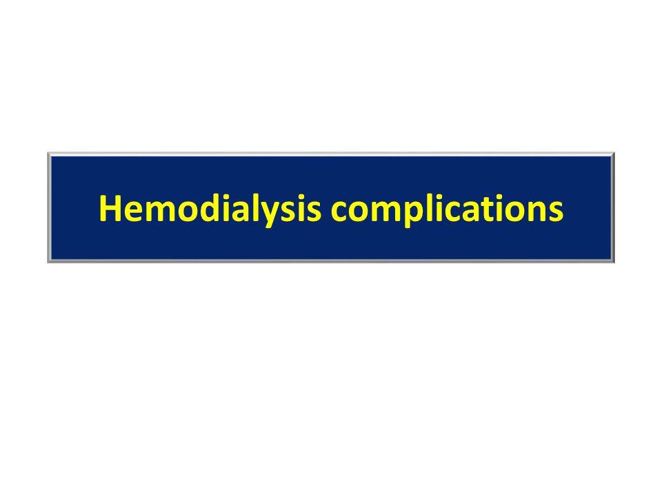 Hemodialysis complications