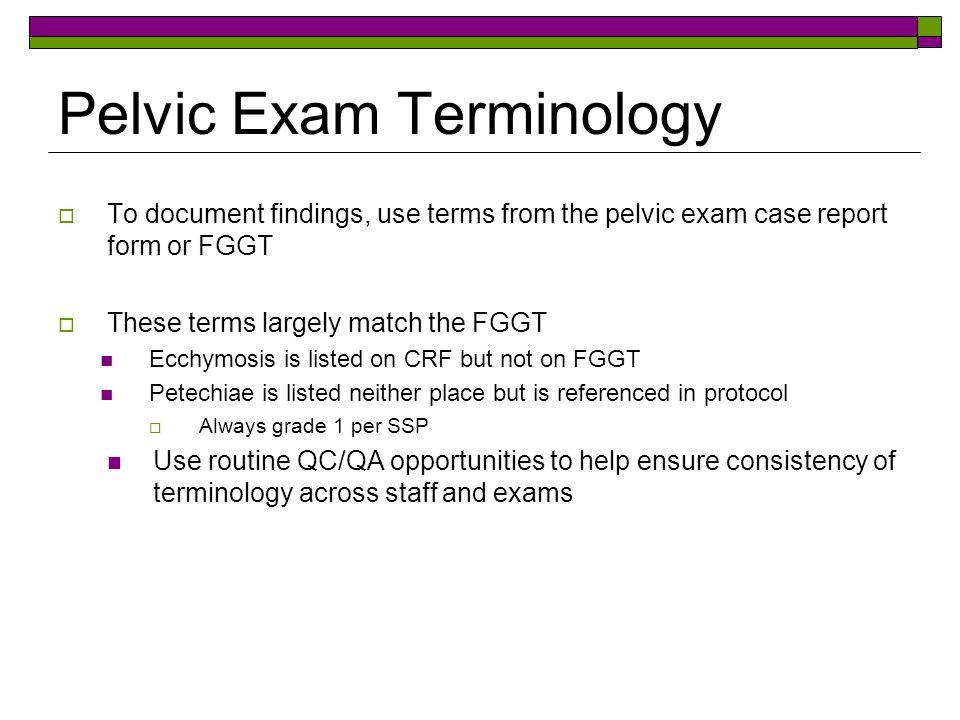 Pelvic Exam Terminology