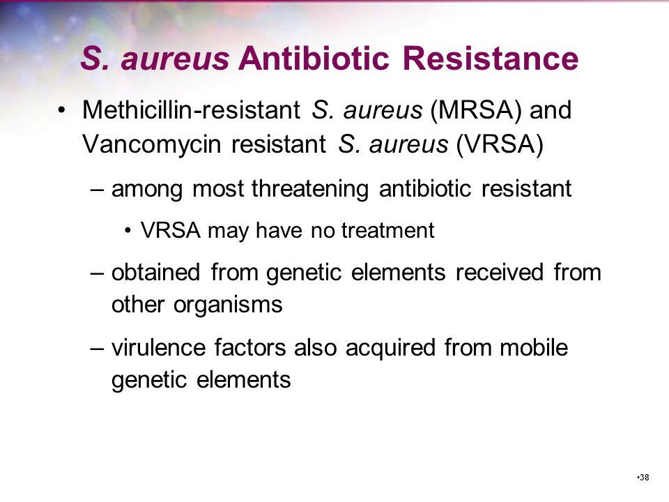 S. aureus Antibiotic Resistance