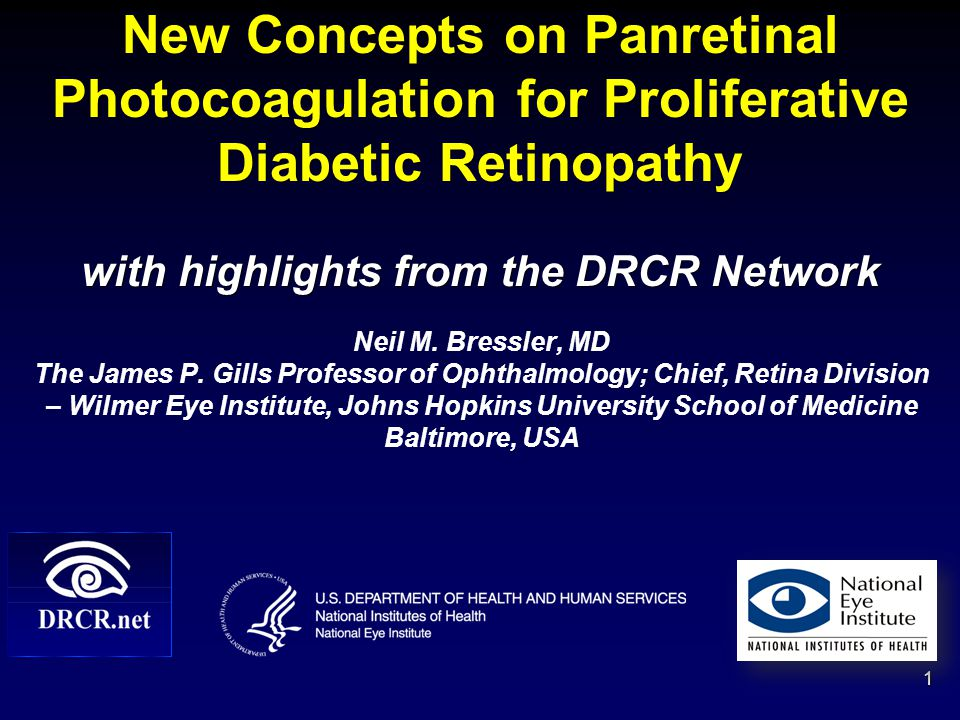 New Concepts on Panretinal Photocoagulation for Proliferative Diabetic Retinopathy with highlights from the DRCR Network