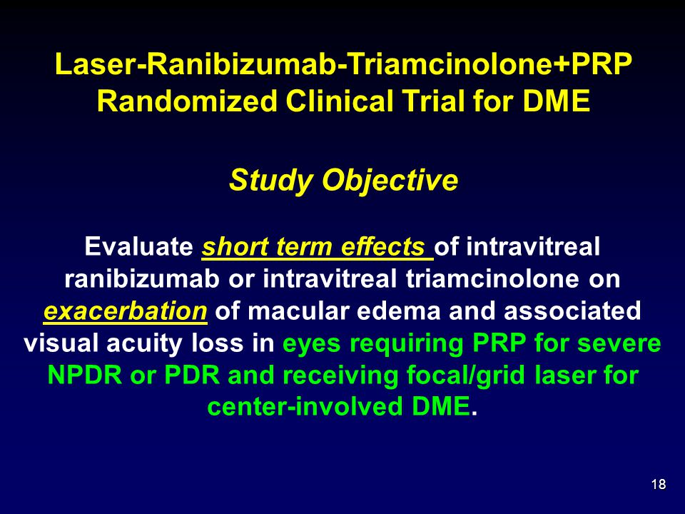 Laser-Ranibizumab-Triamcinolone+PRP Randomized Clinical Trial for DME