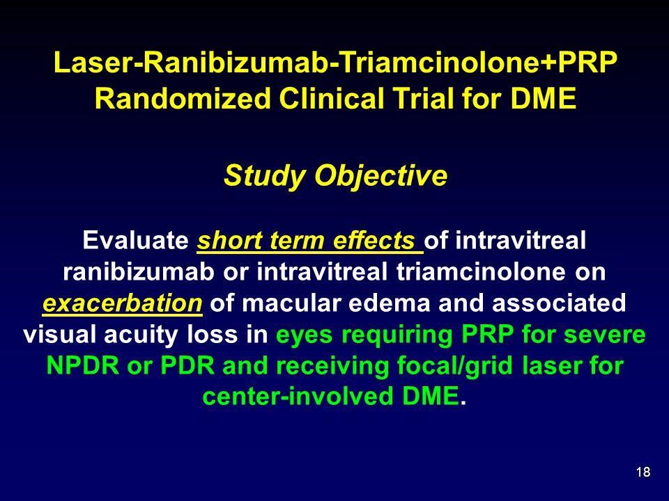 Laser-Ranibizumab-Triamcinolone+PRP Randomized Clinical Trial for DME