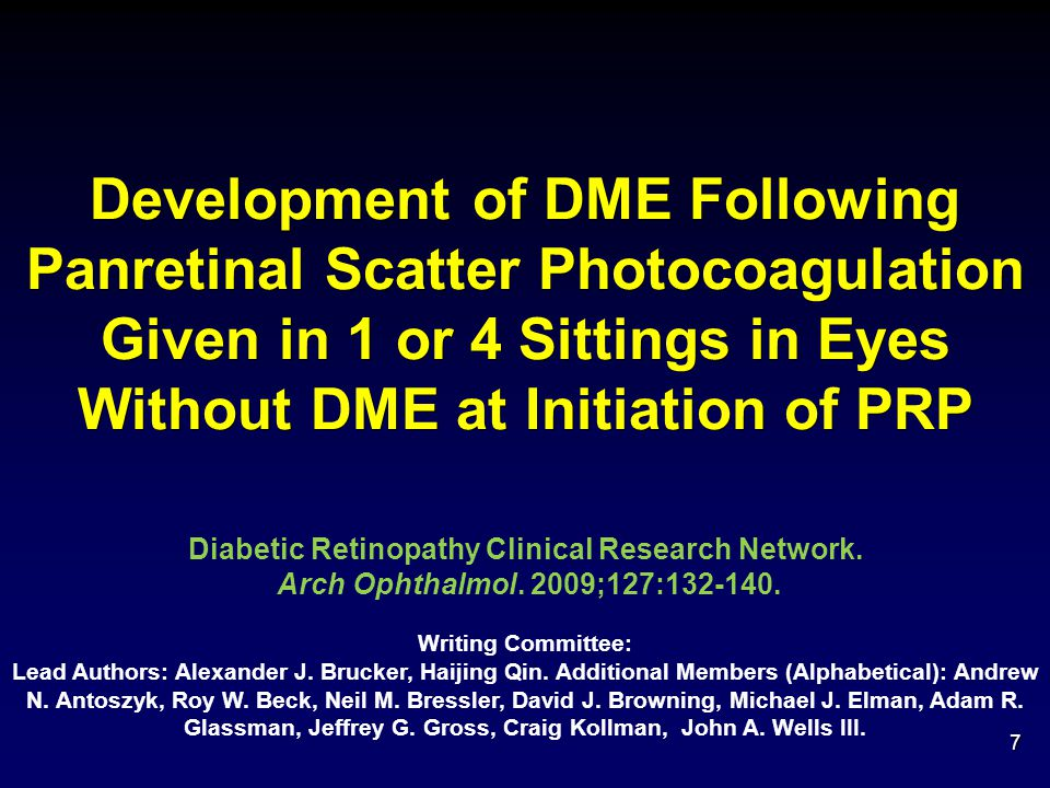 Diabetic Retinopathy Clinical Research Network.