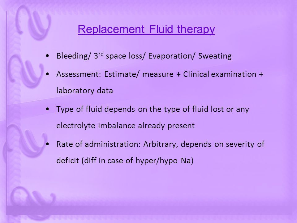 Replacement Fluid therapy