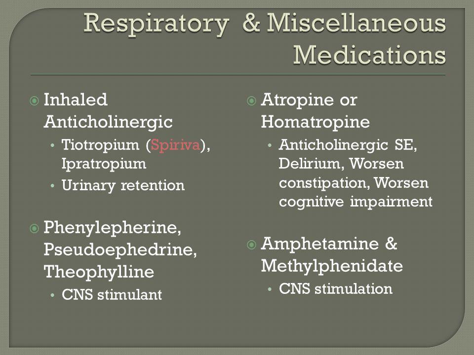 Respiratory & Miscellaneous Medications