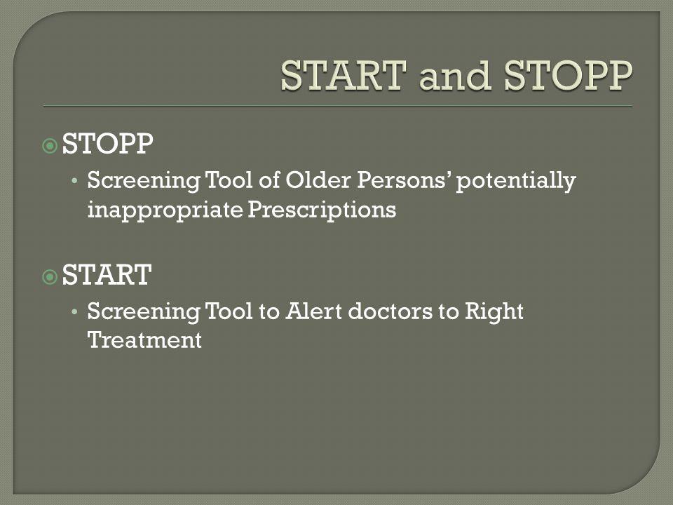 START and STOPP STOPP START