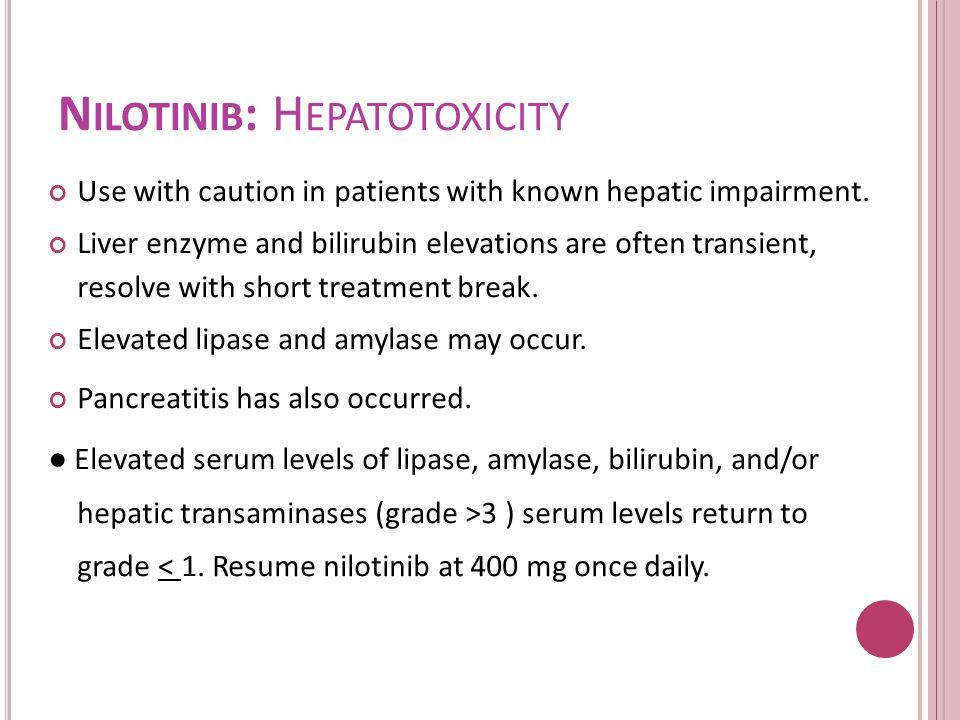 Nilotinib: Hepatotoxicity