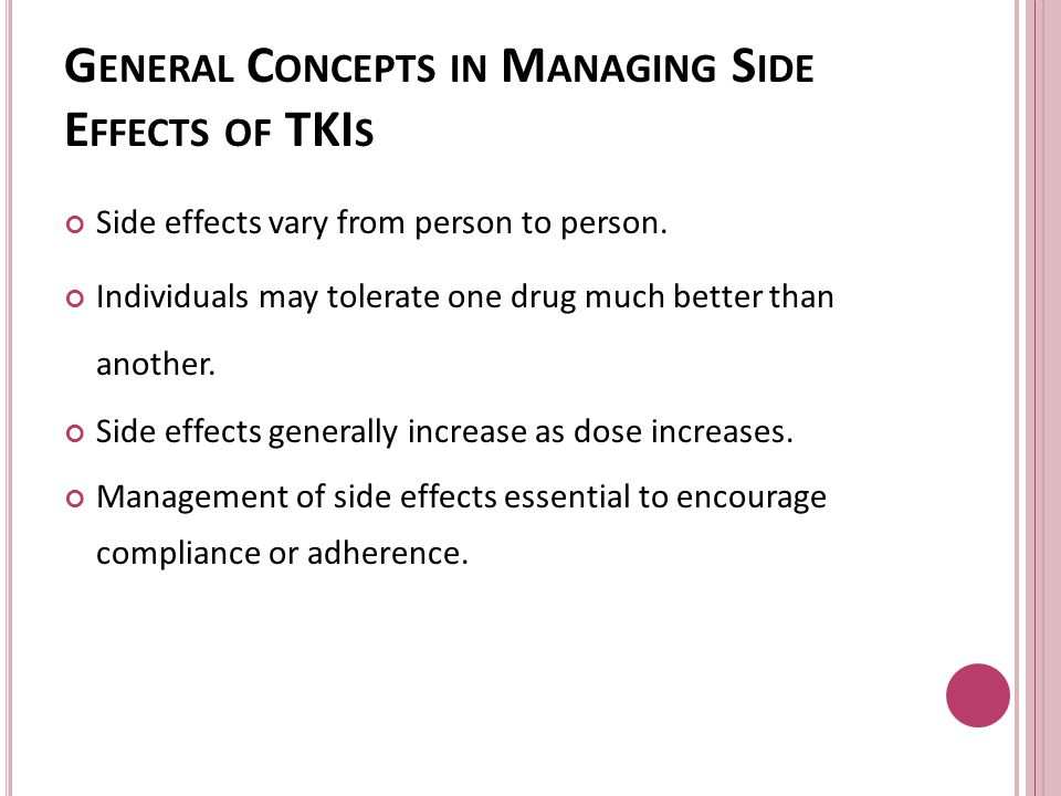 General Concepts in Managing Side Effects of TKIs