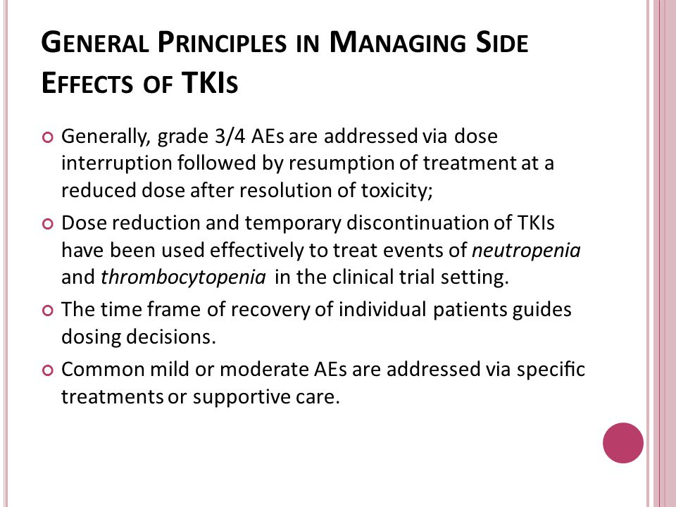General Principles in Managing Side Effects of TKIs