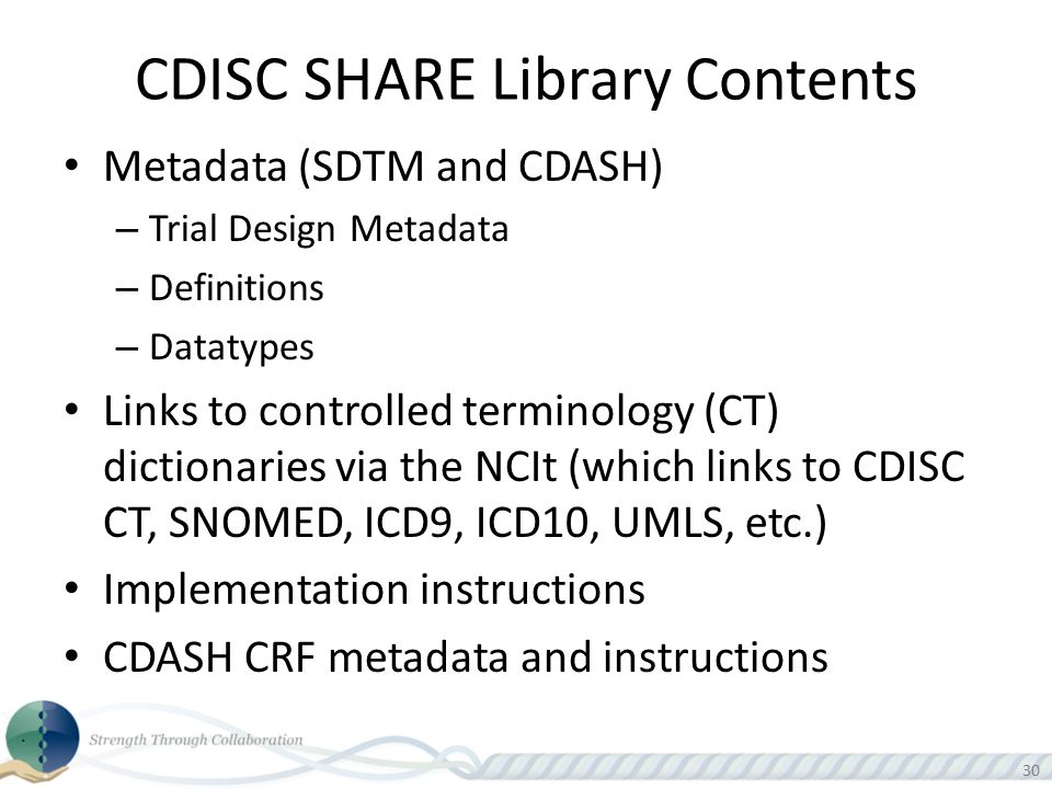 CDISC SHARE Library Contents