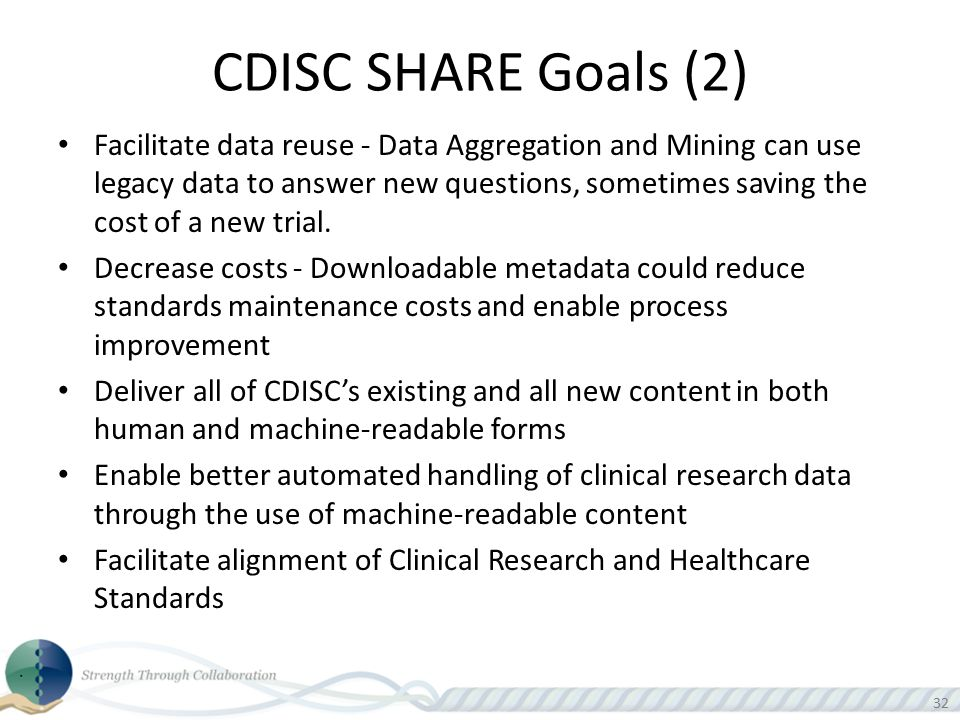 CDISC SHARE Goals (2)