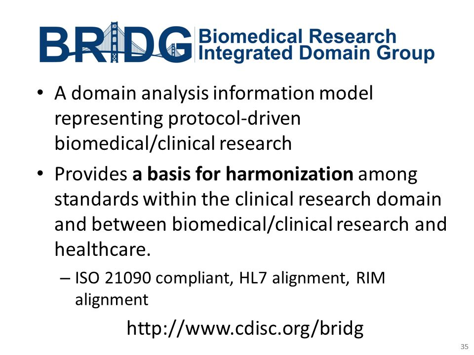 A domain analysis information model representing protocol-driven biomedical/clinical research