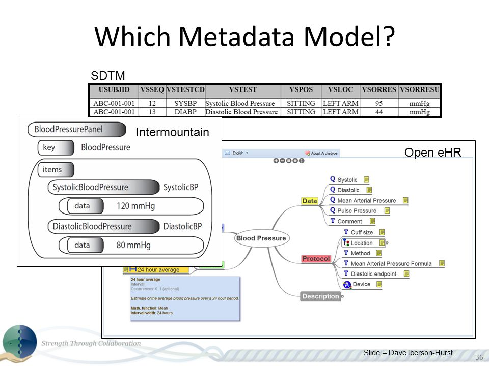 Which Metadata Model SDTM Intermountain Open eHR