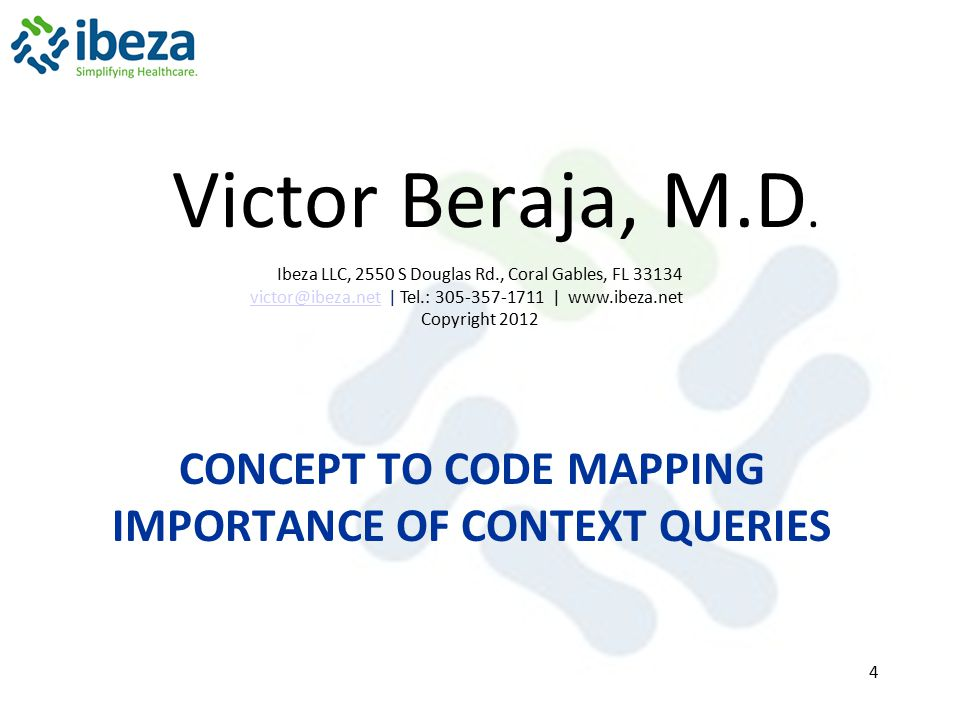 concept to code mapping importance of Context queries