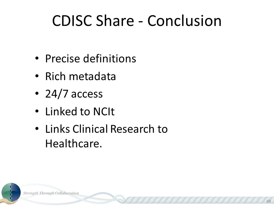 CDISC Share - Conclusion