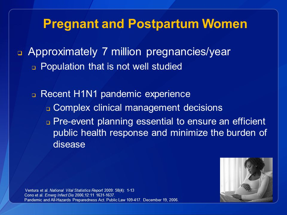 Pregnant and Postpartum Women