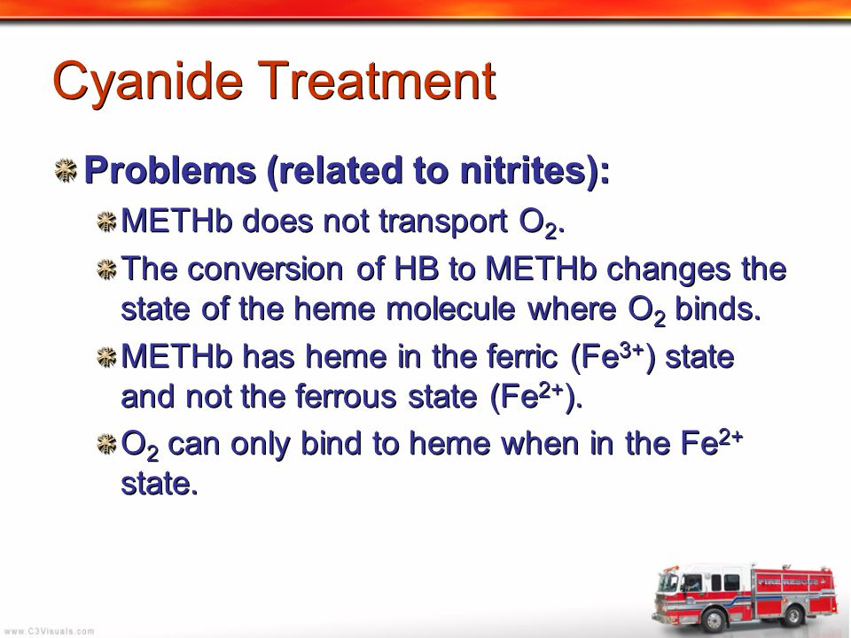 Cyanide Treatment Problems (related to nitrites):