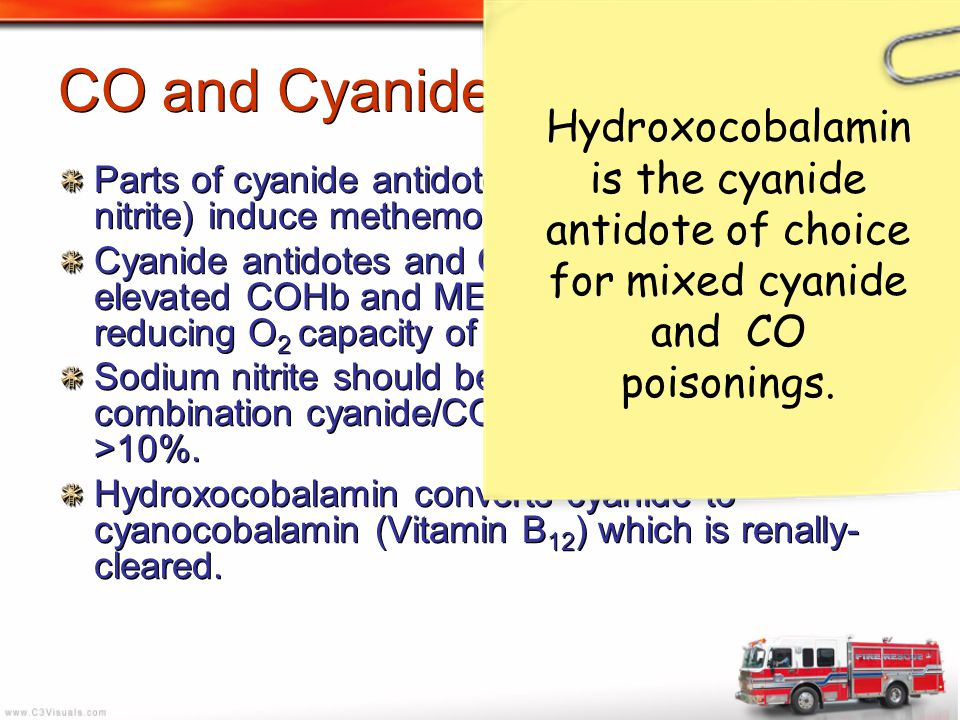 CO and Cyanide Poisoning