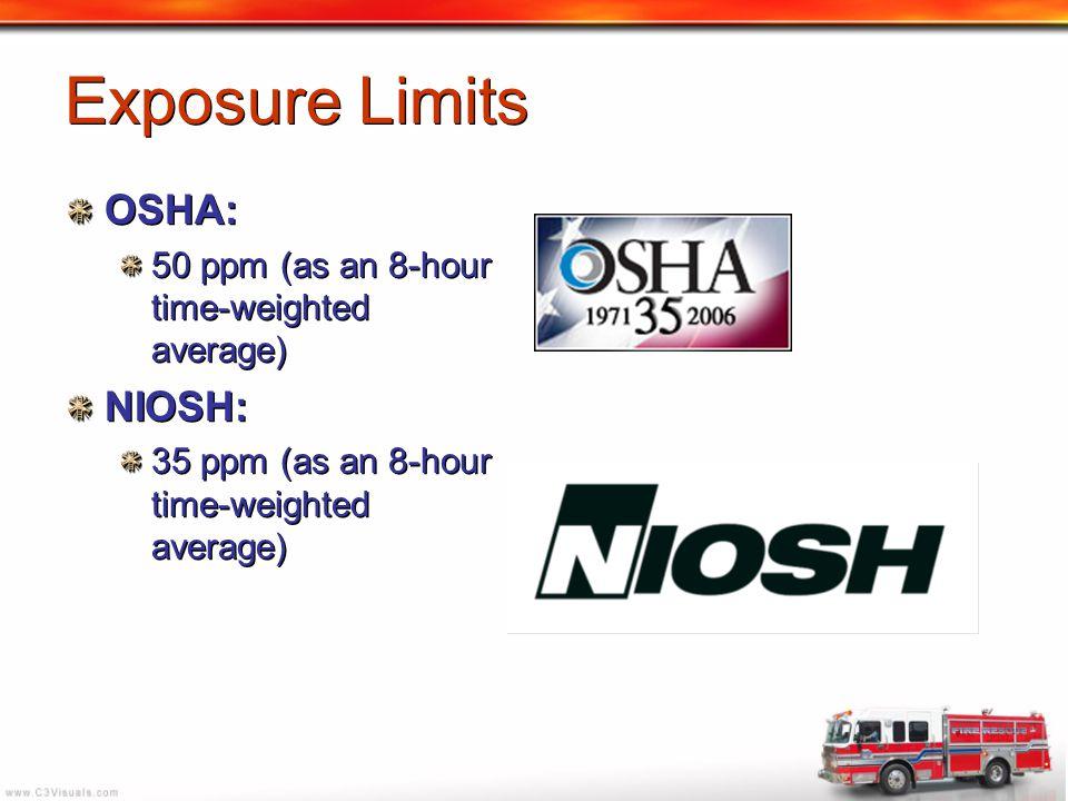 Exposure Limits OSHA: NIOSH: