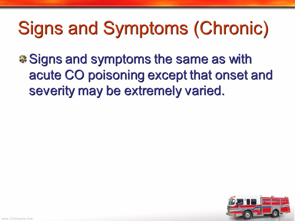 Signs and Symptoms (Chronic)