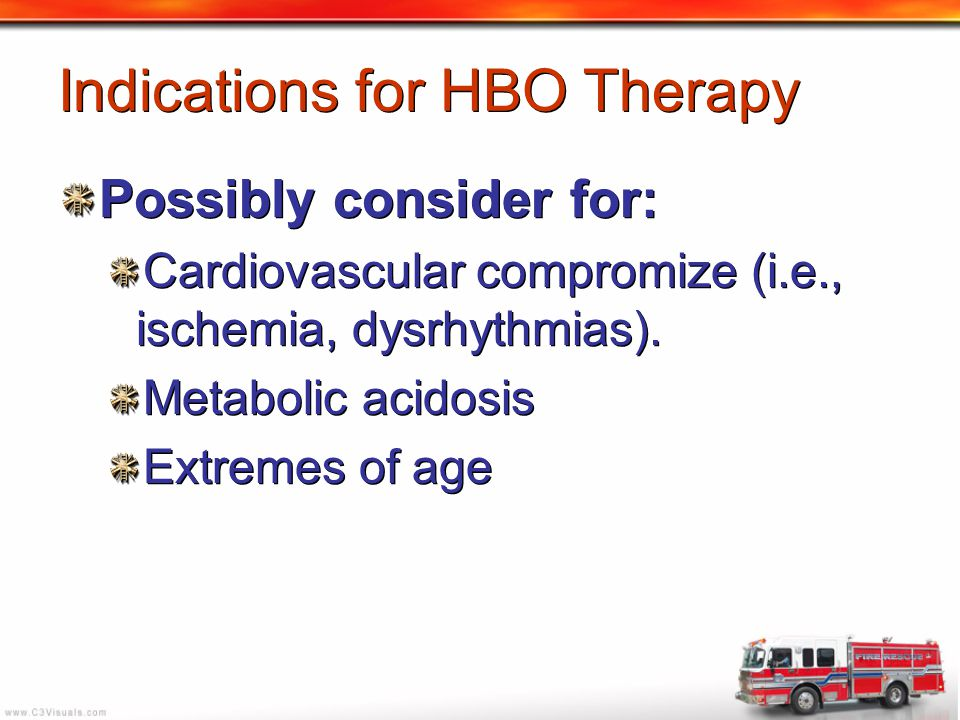 Indications for HBO Therapy