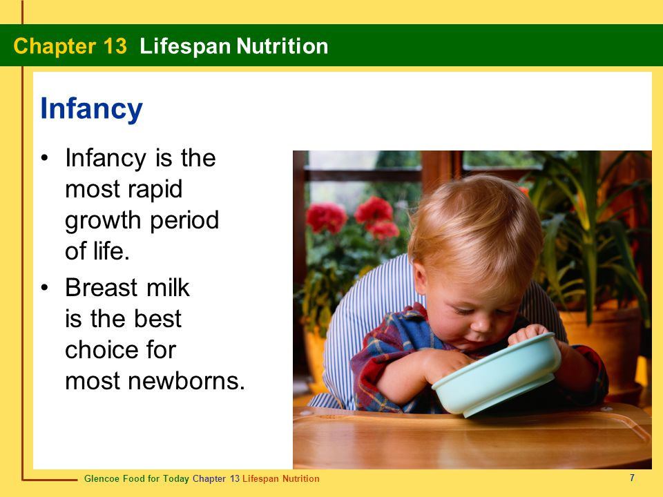 Infancy Infancy is the most rapid growth period of life.