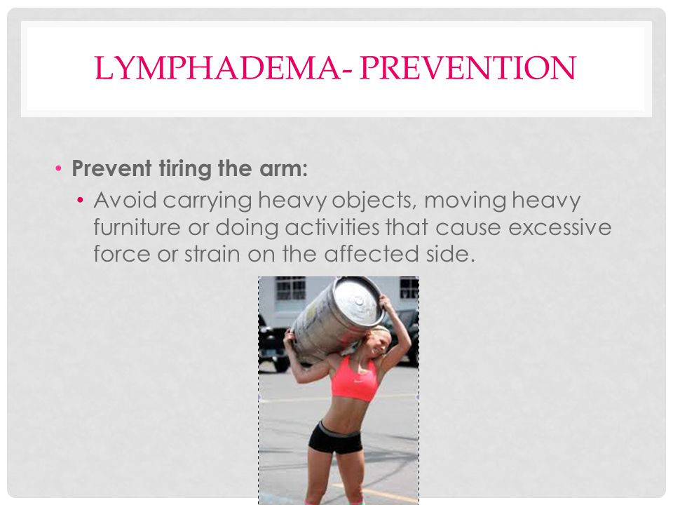 Lymphadema- Prevention