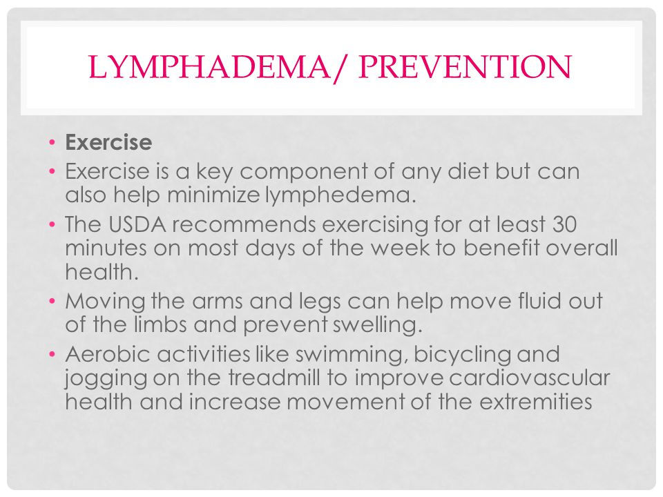 Lymphadema/ Prevention