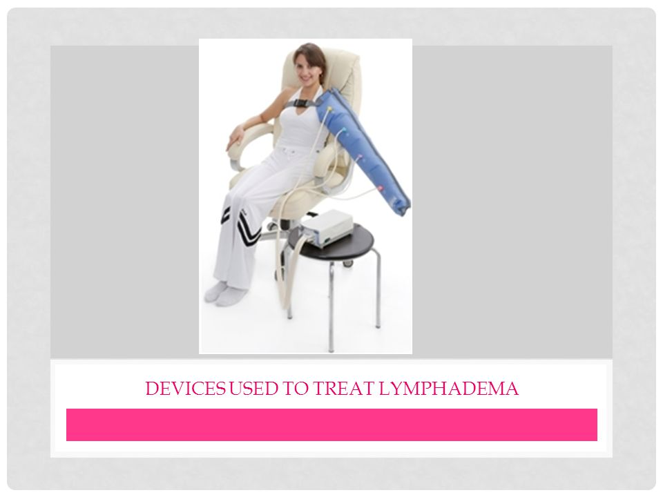 Devices used to treat lymphadema