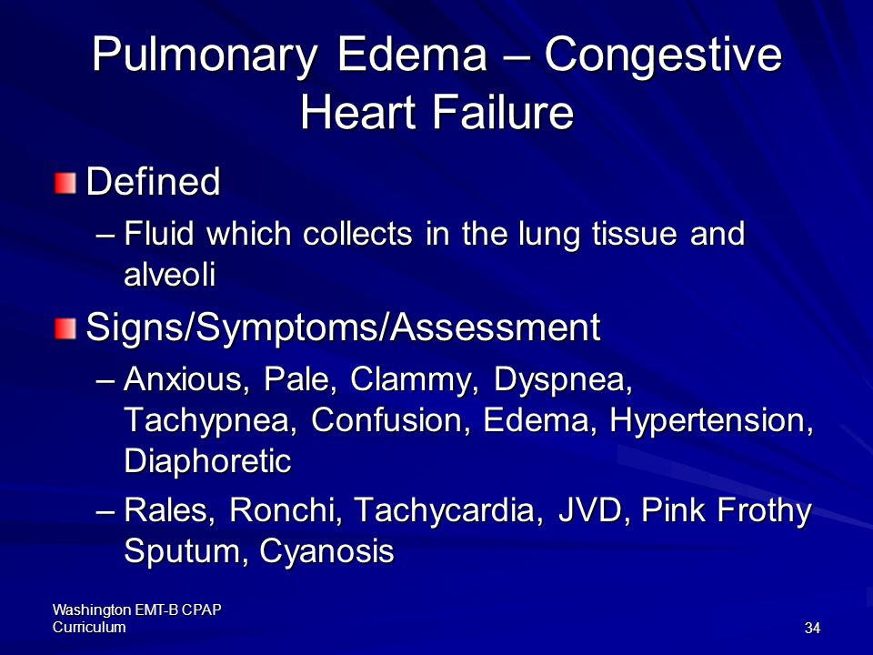 Pulmonary Edema – Congestive Heart Failure