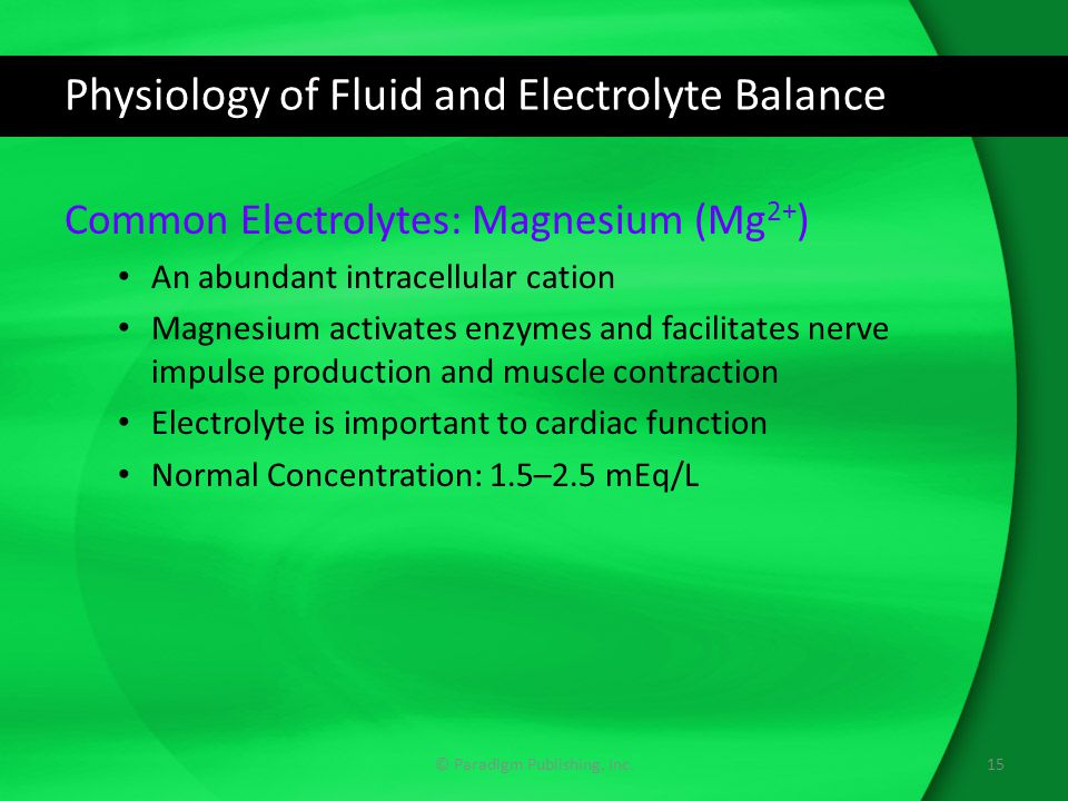 Physiology of Fluid and Electrolyte Balance