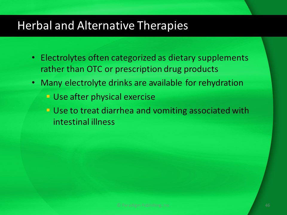 Herbal and Alternative Therapies