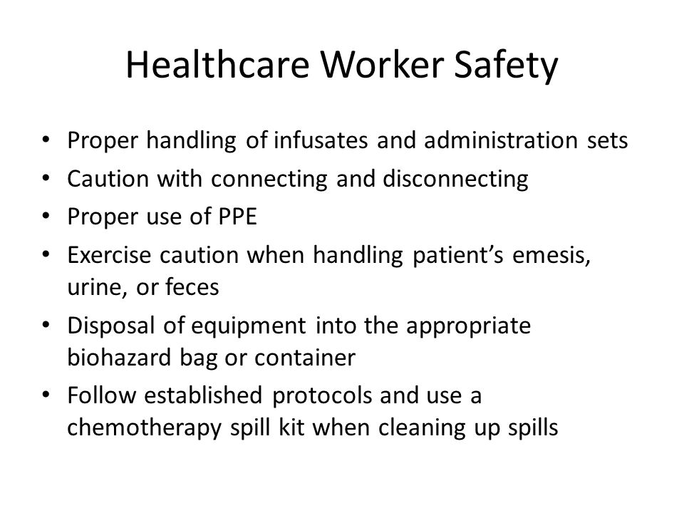Healthcare Worker Safety