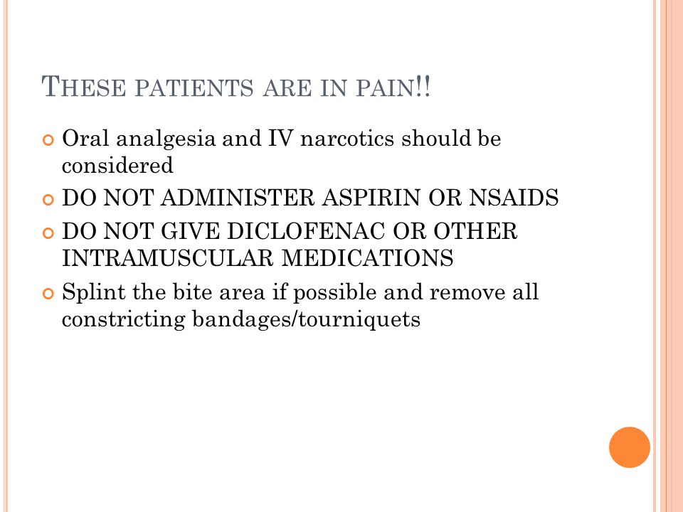 These patients are in pain!!
