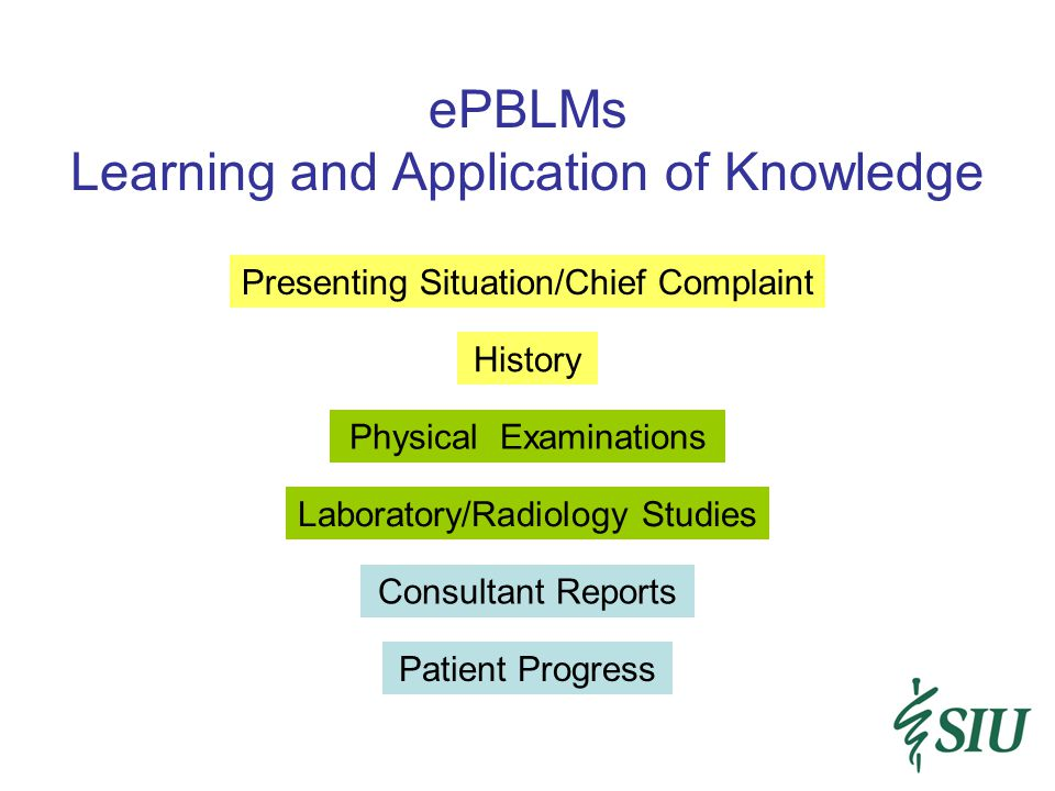 ePBLMs Learning and Application of Knowledge